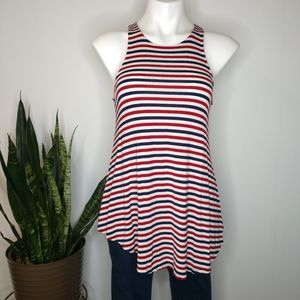 Mossimo red, white & blue tank top size S